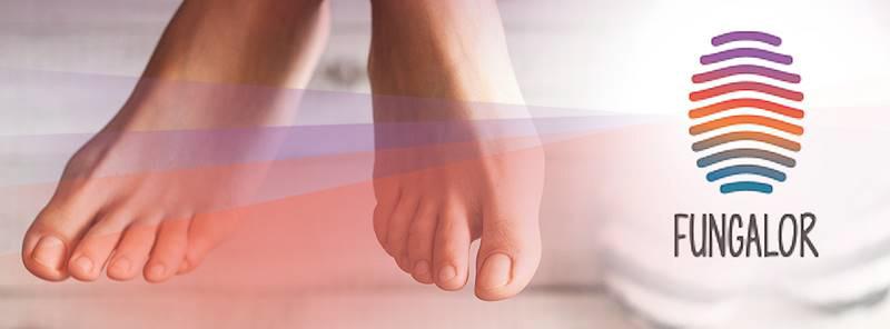 fungalor per i funghi del piede e del piede