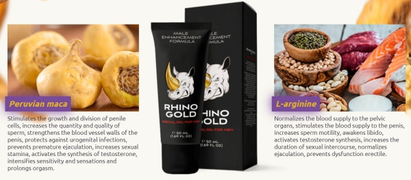 Rhino Gold gel ingredienti, come applicare